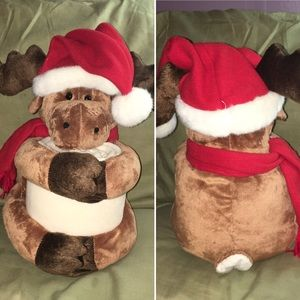 Other - CHRISTMAS GIFT | adorable plush moose w/blanket